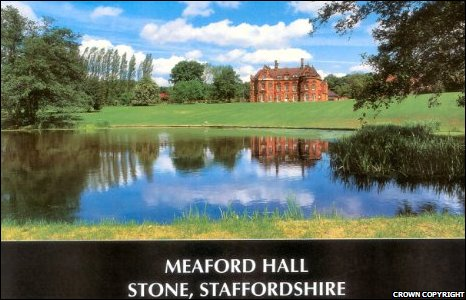Meaford Hall in Stone, Staffordshire is one of the two properties seized