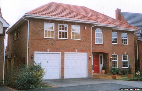 Another property owned by Craig Johnson in Stone, Staffordshire which was also seized.