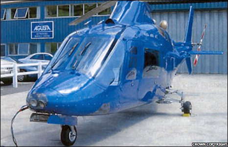 A helicopter belonging to Craig Johnson.