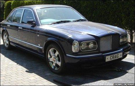 A Bentley belonging to Craig Johnson.