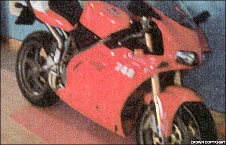 Craig Johnson's Ducati motorbike.
