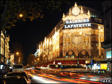 Galeries Lafayette department store in Paris