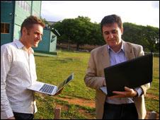Gareth Mitchell and Professor Zuffo