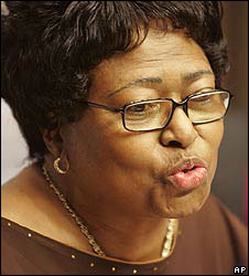 South Africa's former health minister Manto Tshabalala-Msimang