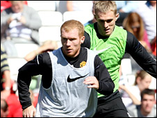 Paul Scholes (left) and Darren Fletcher