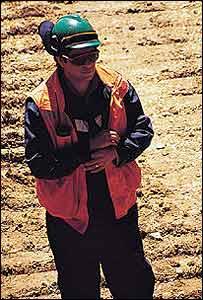 Minero del cobre en Chile