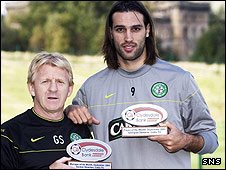 Gordon Strachan and Georgios Samaras