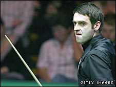 Ronnie O'Sullivan pictured during the World Championships in May 2008