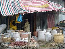 Grain shop in Addis Ababa
