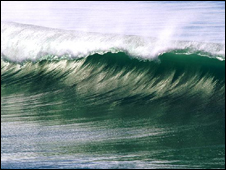 Picture of large wave