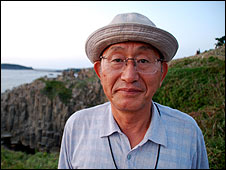 Retired Japanese policeman and rescuer Yukio Shige