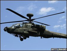 AH-64 Apache helicopter (file image)