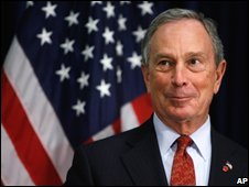 Mayor of New York, Michael Bloomberg in New York (02/10/2008)