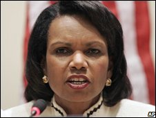 US Secretary of State Condoleezza Rice at the UN, New York (26/09/2008)
