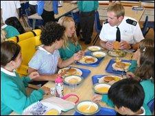 PCSO Martin Hylands at school