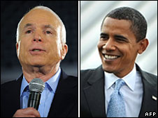 John McCain and Barack Obama (composite image)