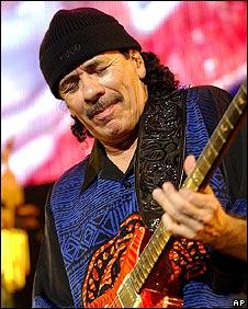 Guitarist Carlos Santana
