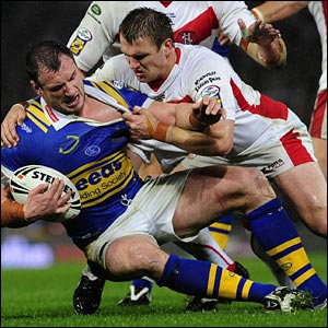 James Peacock, as usual, does a lot of the donkey work for Leeds