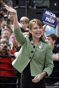 سارة بالين في تجمع انتخابي في كارسون بولاية كاليفورنيا