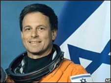 Ilan Ramon, Israel's first astronaut, before the Columbia's flight