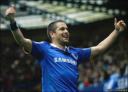Chelsea's Joe Cole celebrates