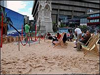 Birmingham's beach