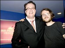 Russell T Davies and film festival prize winner Till Kleinert