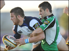Connacht's Frank Murphy (right) and Leinster's Sean O'Brien