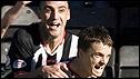 St Mirren goalscorer Stephen McGinn (right) celebrates with Billy Mehmet