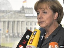 German Chancellor Angela Merkel in Berlin (05/10/2008)