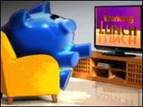 pig watching tv