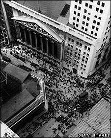 View of Wall St from 1929