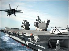 HMS carrier (artist impression)