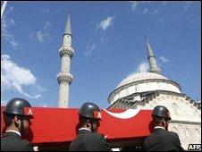 Turkish soldier's funeral after PKK attack 5/10/08