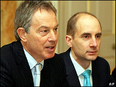 Tony Blair and Andrew Adonis
