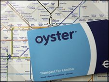 Oyster card on Tube map, Getty