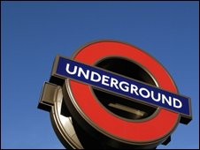 London Underground sign, BBC