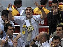 Operadores en la Bolsa de Sao Paulo