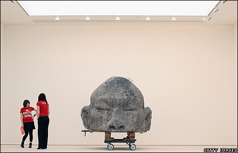 Ash head, by Zhang Huan