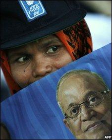 Supporter of President Maumoon Abdul Gayoom