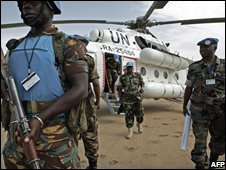 UN peacekeepers in Darfur