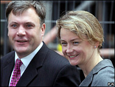 Ed Balls and Yvette Cooper arrive for the meeting