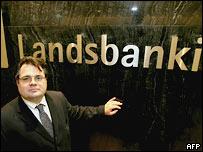Архивное фото гендиректора Landsbanki - одного из крупнейших исландских банков, пострадавших от мирового финансового кризиса