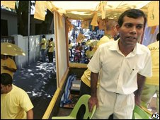 Mohamed Nasheed, head of the Maldivian Democratic Party