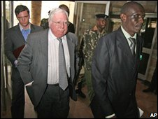 Jerome Corsi with Kenyan officials