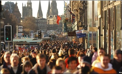 Shoppers in Princes Street