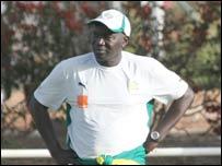 Senegal coach Lamin Ndiaye