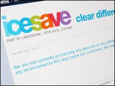 Icesave website