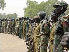 SPLM soldiers training