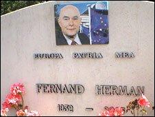 Fernand herman's grave in Overijse
